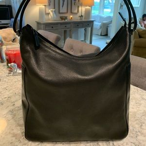 Gucci Black Leather Bag Purse